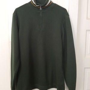 Men's Croft and Barrow L Green Pullover